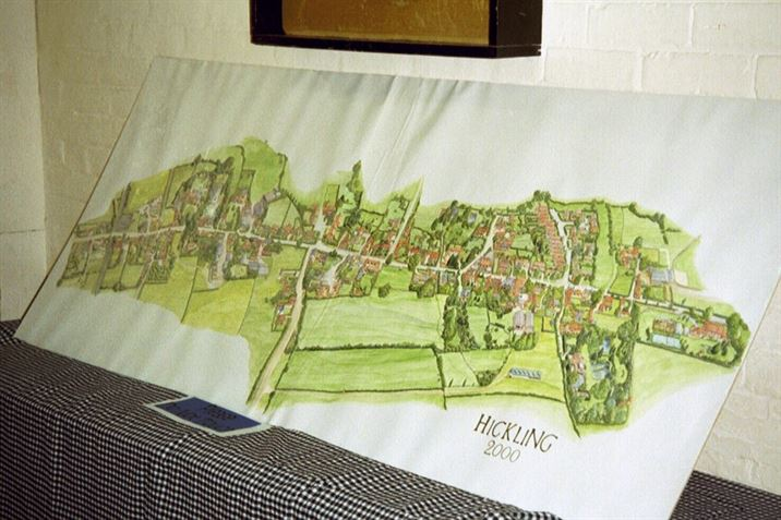The original Domesday Book Village Map