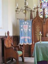 Mother's Union Banner (St. Luke's Hickling) embroidered by Thomas Starbuck's mother, in his memory.