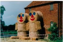 Hickling Canal Basin (1999) - the Hickling Corn Dollies for Scarecrow Weekend.