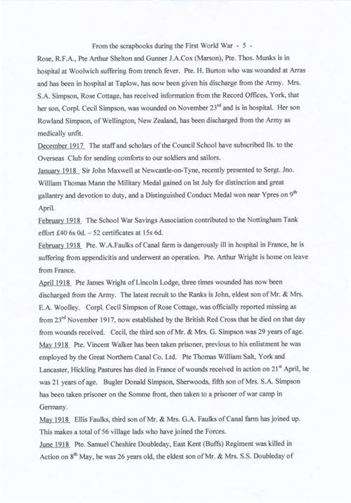 W0160 e - a WWI chronology