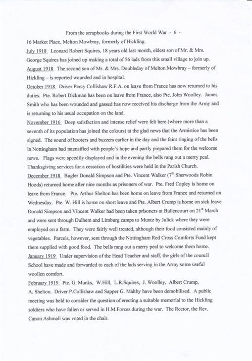 W0160 f - a WWI chronology