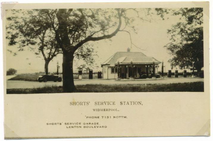 W0265a Widmerpool - service station (pre-1964)