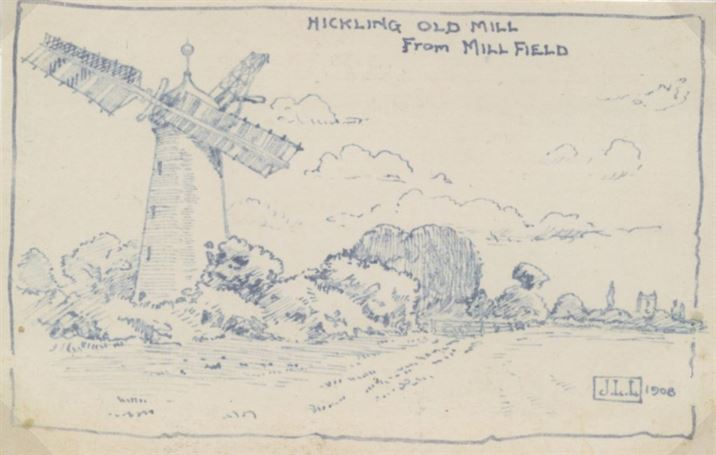 W0767 the Mill - drawing by Mr laws 1908