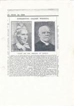 W0928 Canon & Mrs Skelton Golden Wedding 1909