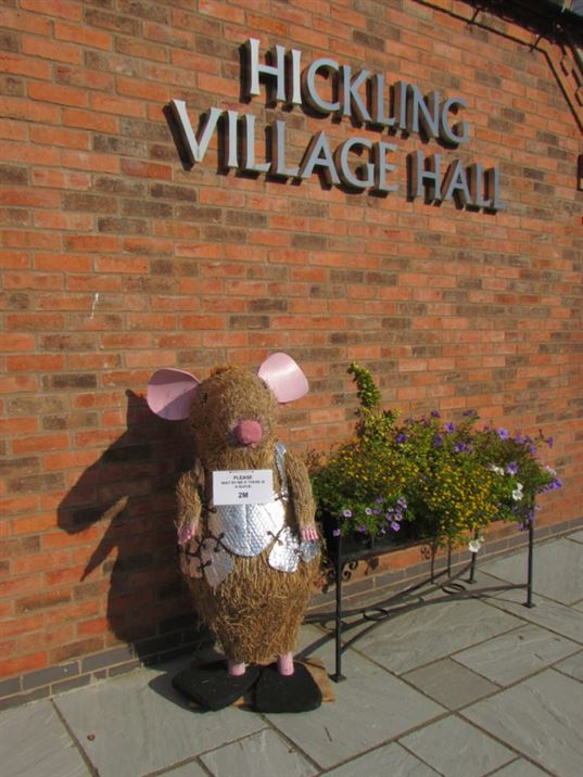 Scarecrows 2020 Village Hall social-distancing