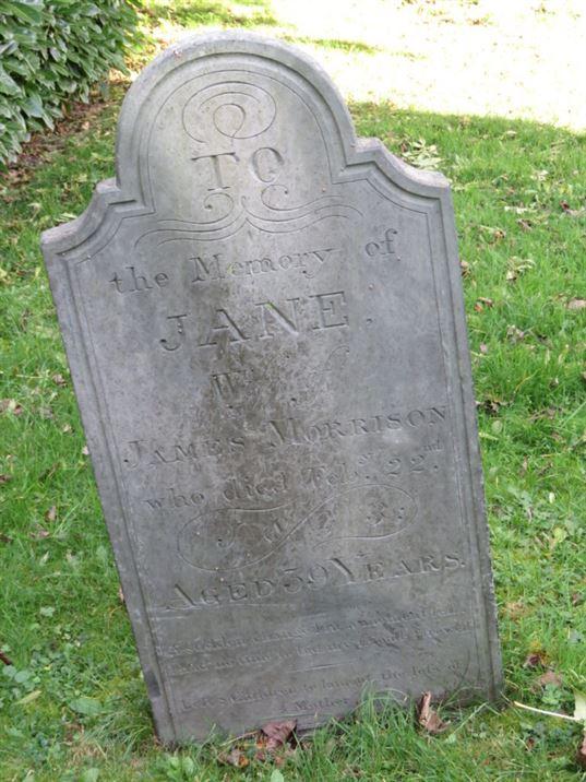 Grave of Jane (Gibson) Morrison; Hickling