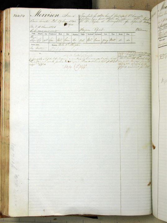 James Morrison Tasmania convict record original