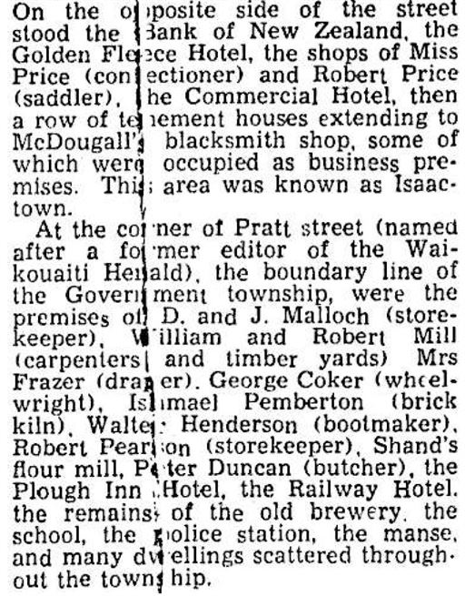 Otago Daily Times - Early Waikouaiti by Donald Malloch 13th May 1939 Plough extract