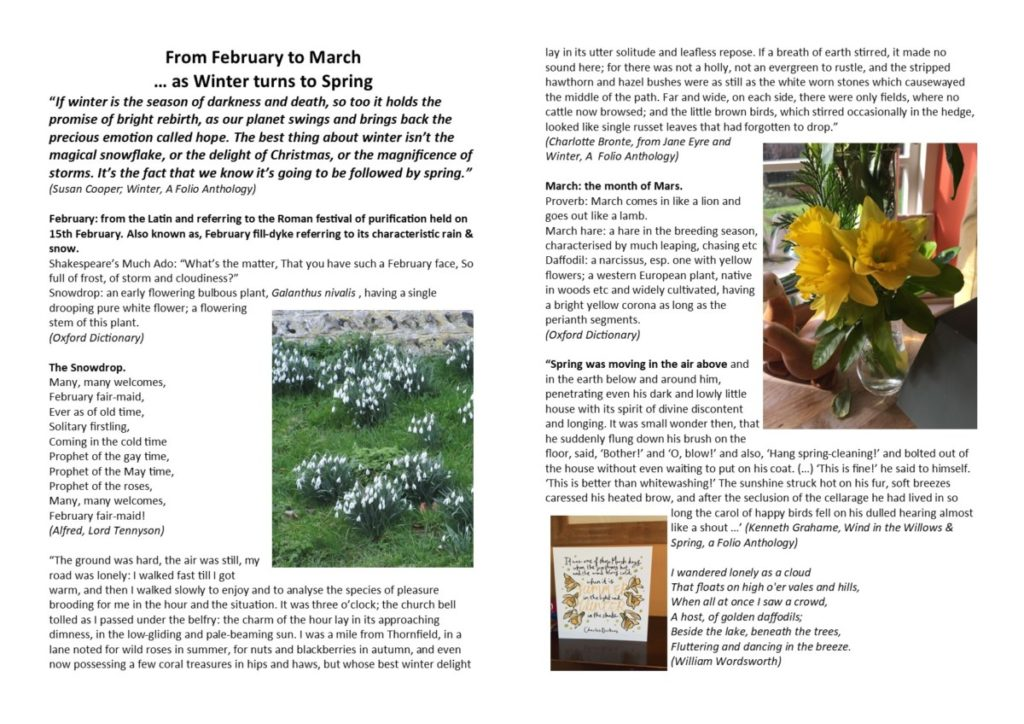 From February to March (article Hickling Standard 2021)