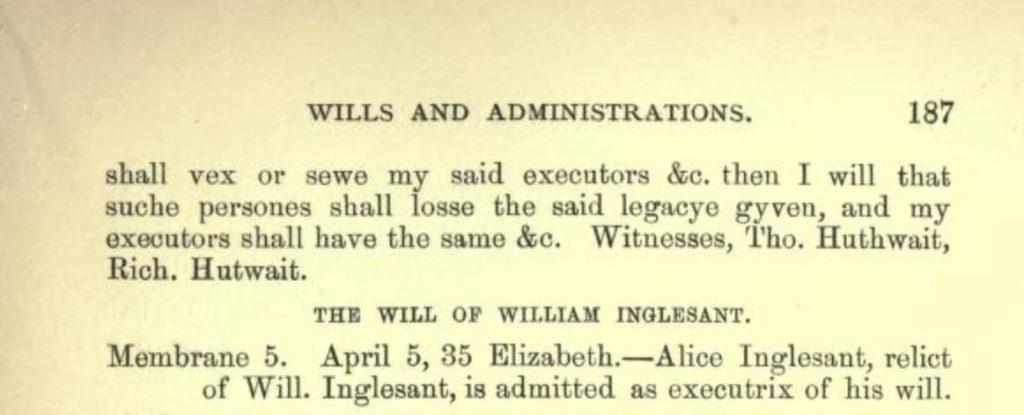 William Atkinson Will transcript (Surtees Soc)