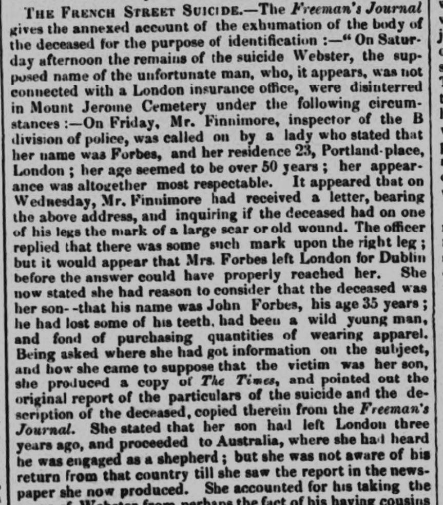 1853 7th October Nottingham Journal Ann Rouse identifying body report 1