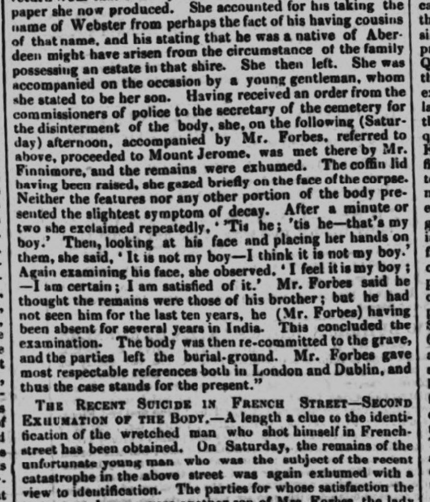 1853 7th October Nottingham Journal Ann Rouse identifying body report 2
