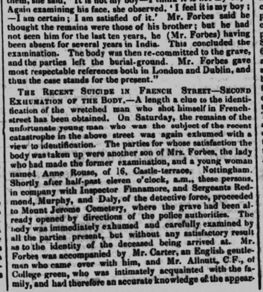 1853 7th October Nottingham Journal Ann Rouse identifying body report 3