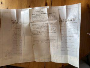 Hodson's Yard: Probate records for Robert Corner