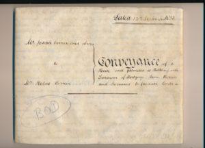 Hodson's Yard: 1853 conveyance