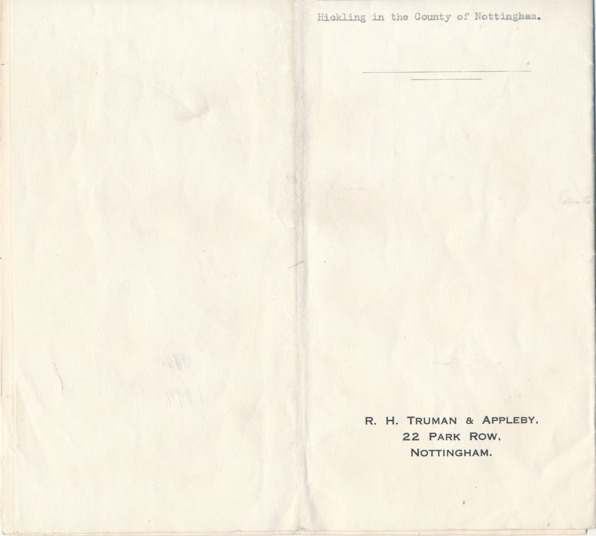 Hodson's Yard: 1960 abstract of title