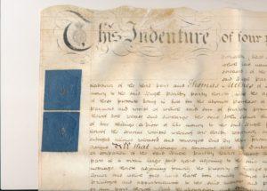 Hodson's Yard: 1803 parchment conveyance