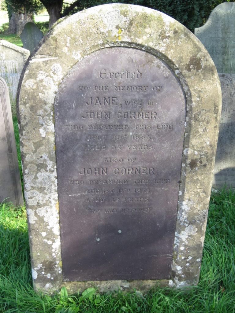 Jane Corner (d.1865) John Corner (d.1870)