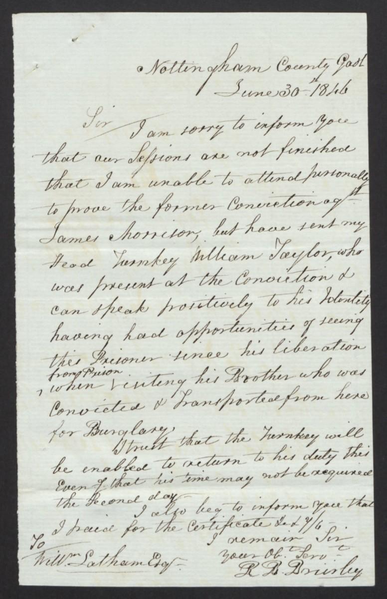 James Morrison petition for clemency corresp