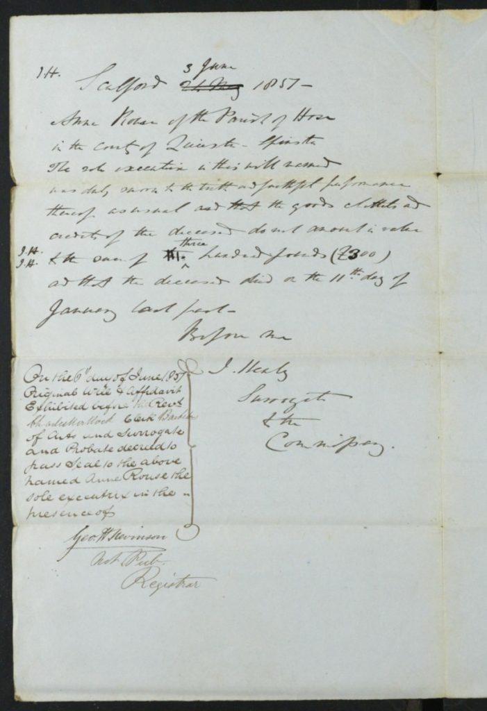 Thomas Rouse Will 1851 3