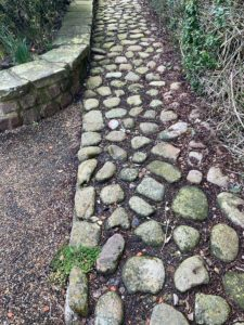 Cobbles may have been reused at The Old Barn (TC)