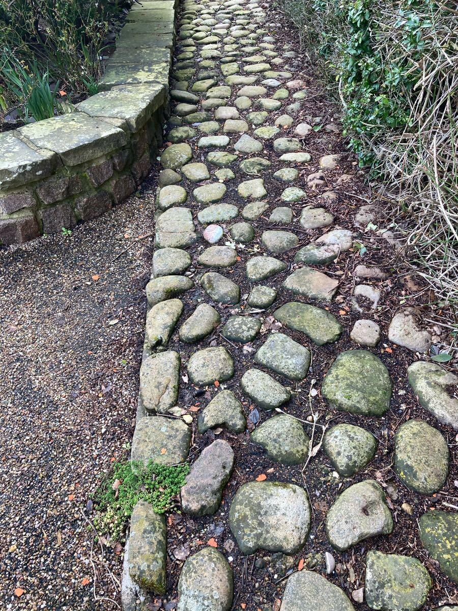 Cobbles may have been reused at The Olde Barn (TC)