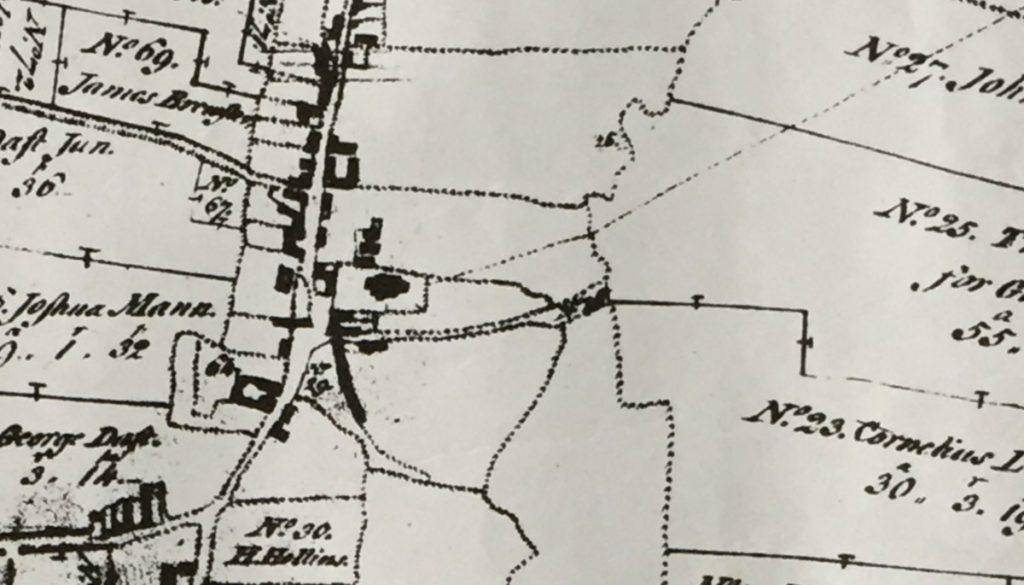 Enclosure Map 1774 - detail surrounding Church