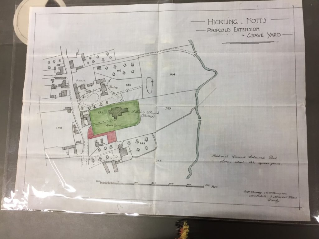 Churchyard Correspondence: undated plan (likely to be 1920s)