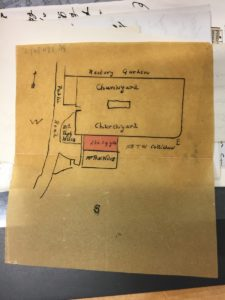 Churchyard Correspondence: plan (probably 1916)