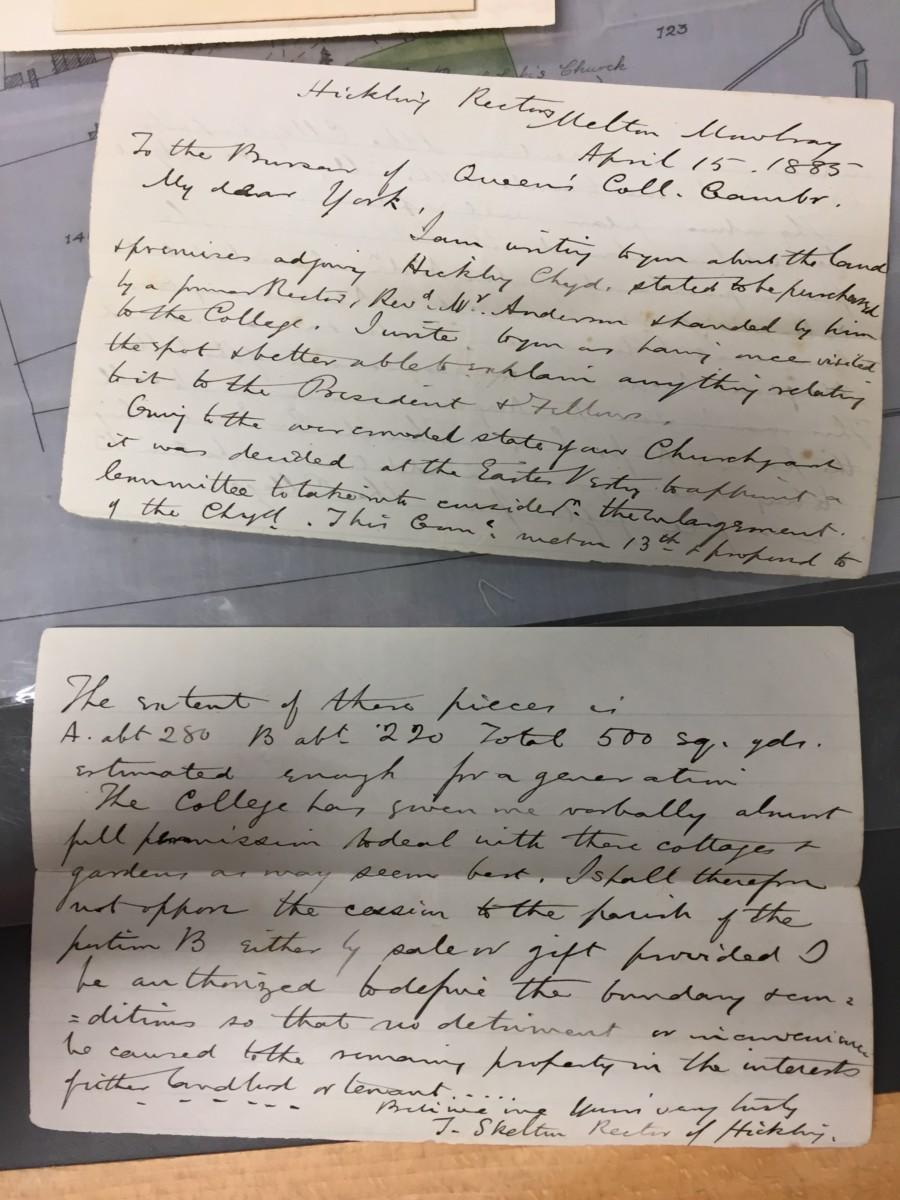 Churchyard Correspondence: April 15th 1885