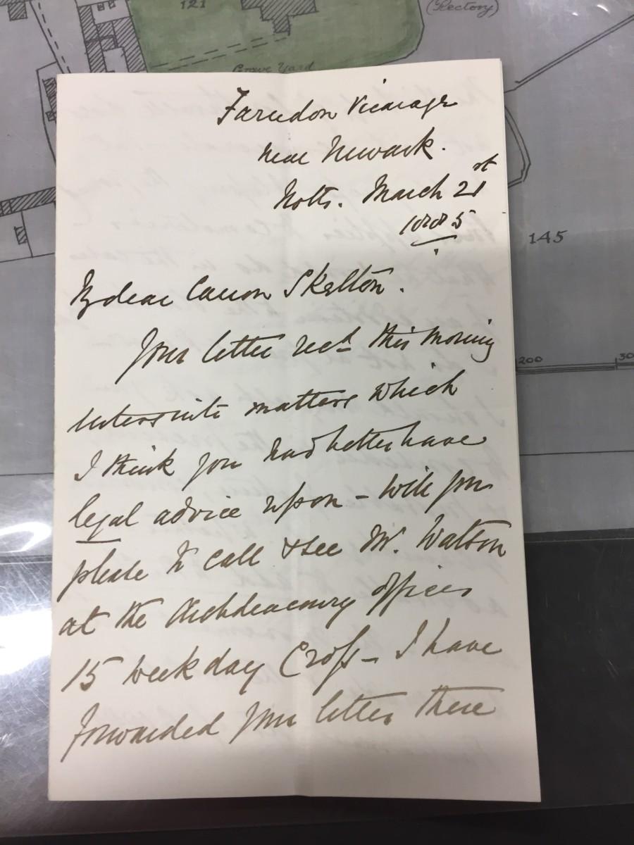 Churchyard Correspondence: March 21st 1885