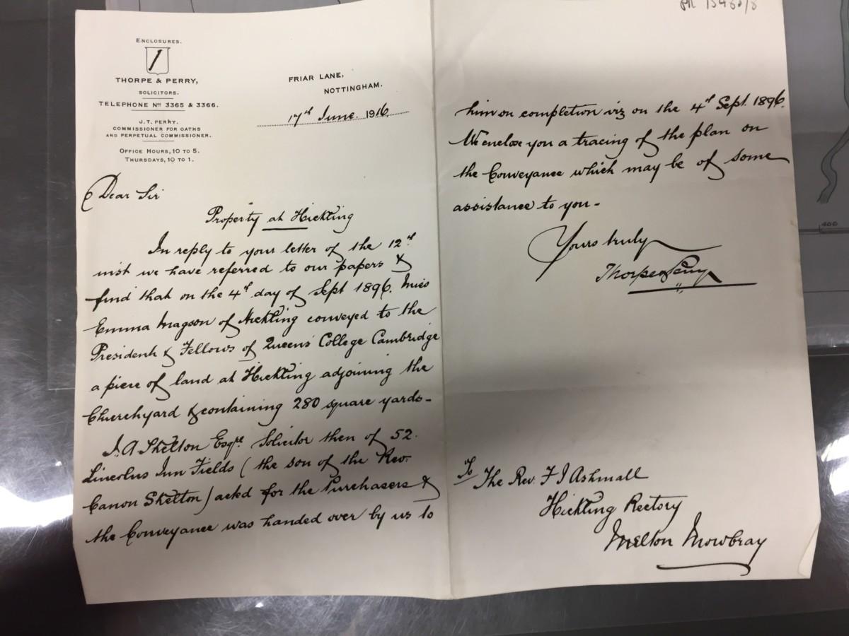 Churchyard Correspondence: 17th June 1916