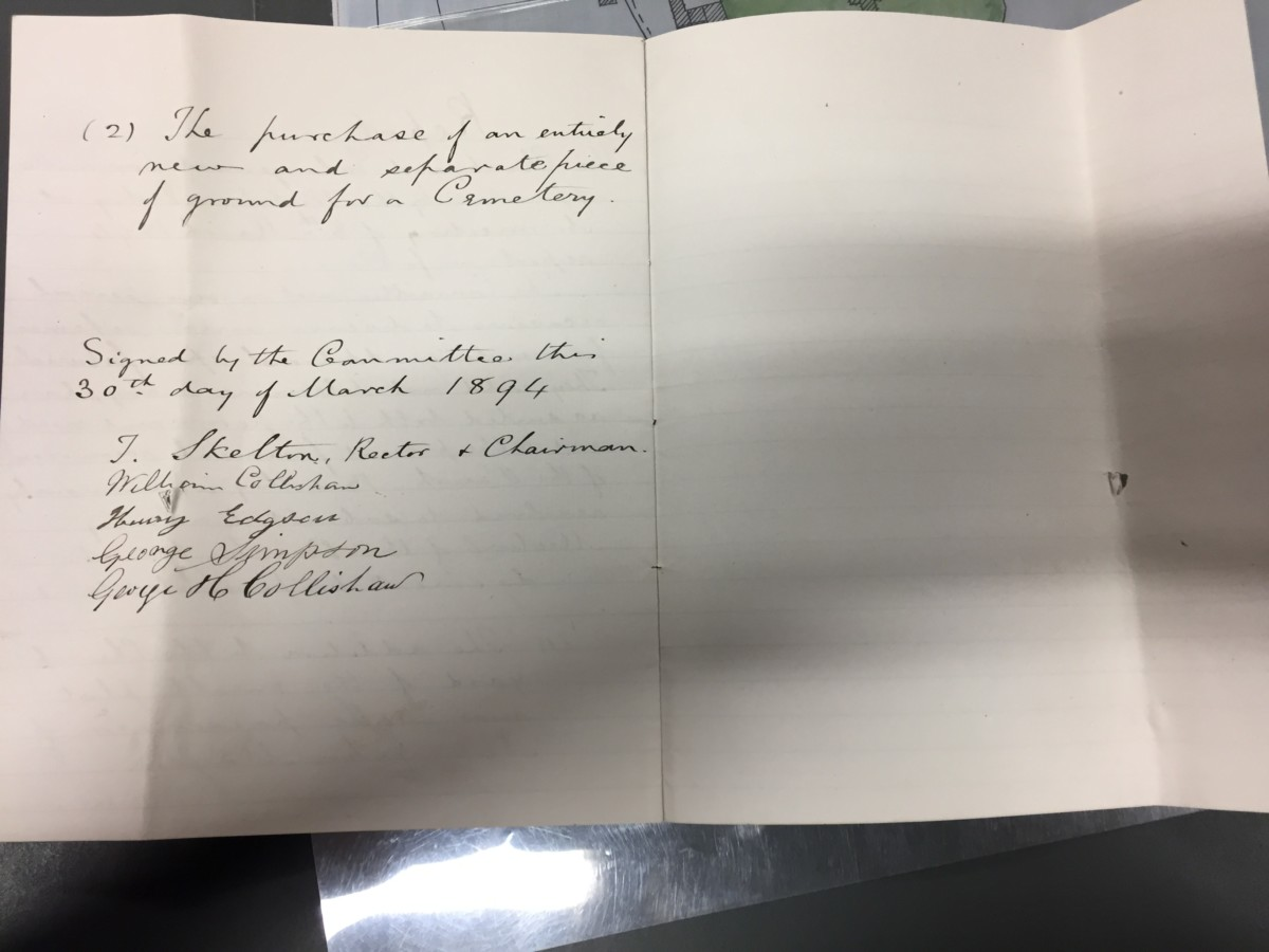 Churchyard Correspondence: Parochial Church Council meetings 1894