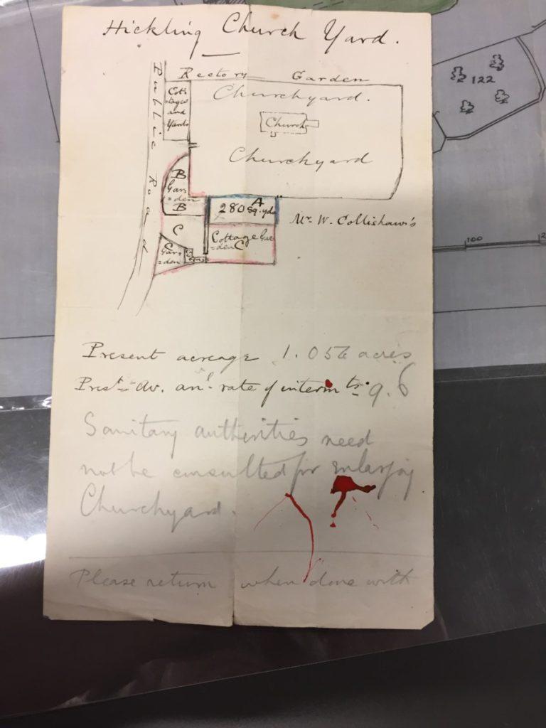 Churchyard Correspondence: plan (1885)