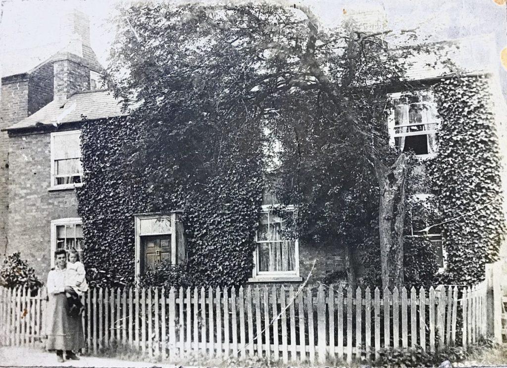 Katherine Wiles with Eva at Home Farm c.1920 (Norton family)