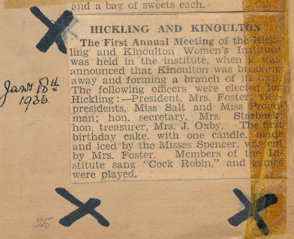 Grantham Journal 18th January 1936 (Wadkin)