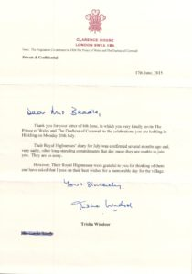 Letter from Clarence House (17th June 2015)