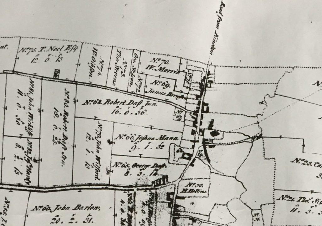 1774 Enclosure Map - village north west section