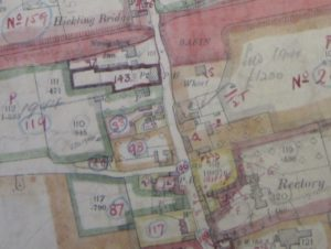 1910 Finance Act map showing Basin, Main St & Mill Lane