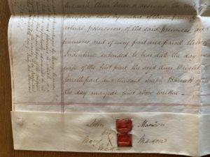 Old Mill Cottage: 1838 lease – document A