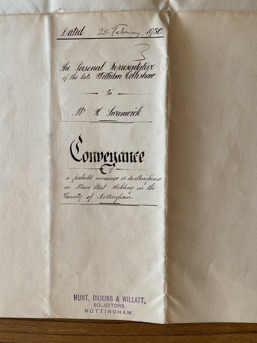 Old Mill Cottage: 1930 conveyance