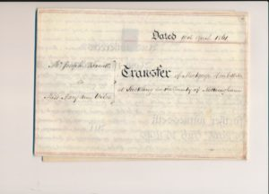 Old Mill Cottage: 1861 indenture and transfer of mortgage